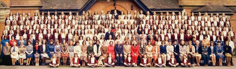 Photograph of the whole school including the staff: 1978